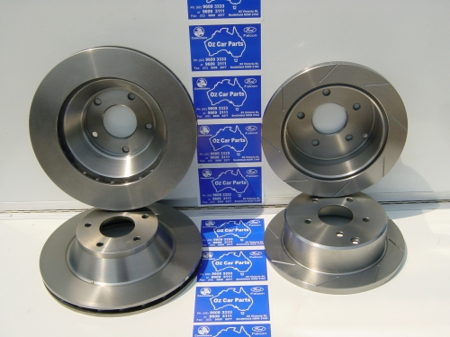 71 STANDARD CROSS DRILLED AND SLOTTED  DISC ROTORS