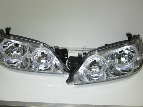 Ford Falcon Fairmont BA BF 1 Chrome Angel Eye Altezza HeadLights Pair Brand New