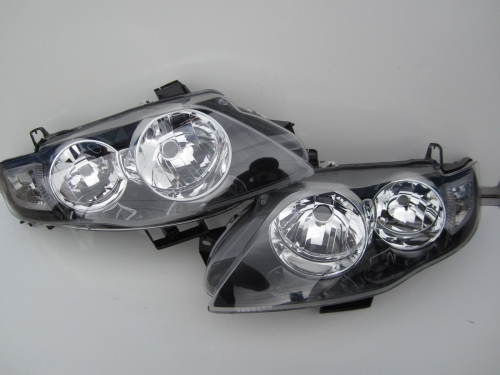 Ford Falcon FG XT MK G6 G6E F6 Headlights Black Brand New Pair