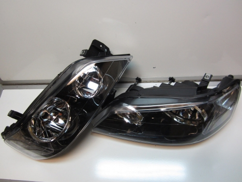 Ford Falcon BA BF Mk1 XT Black Headlights Brand New PAIR