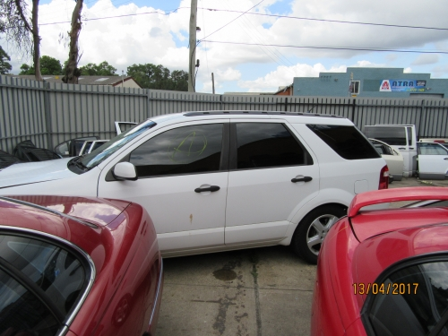FORD TERRITORY AWD WHITE COLOUR CURRENTLY WRECKING ALL PARTS AVALIABLE