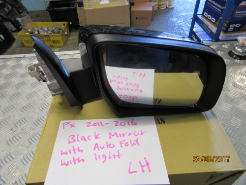 FORD RANGER PX 2011-2016 BLACK ELECTRIC DOOR MIRROR LH WITH INDICATOR