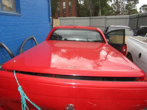HOLDEN COMMODORE VX VU VY VZ UTE LID & HARD LID RED COLOUR